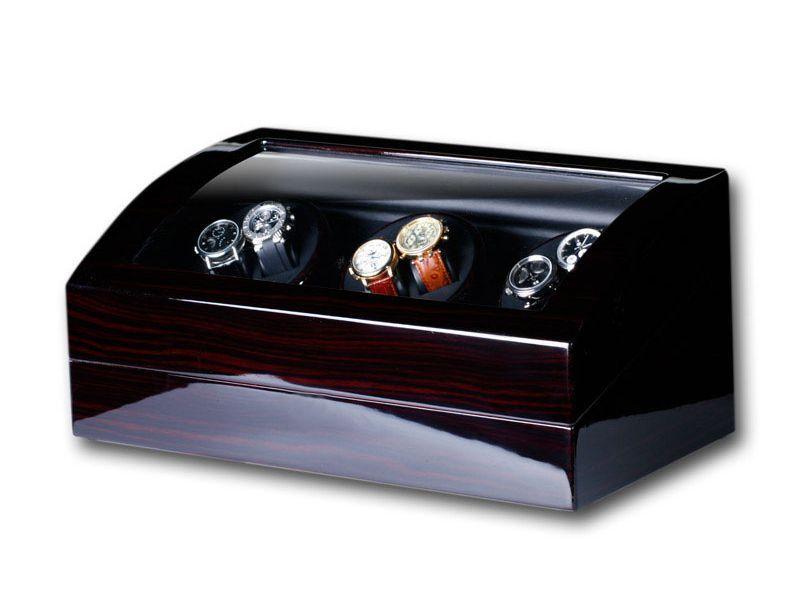uhrenbeweger swing 6 7 uhren wurzelholz watch winder watchwinder ebay. Black Bedroom Furniture Sets. Home Design Ideas