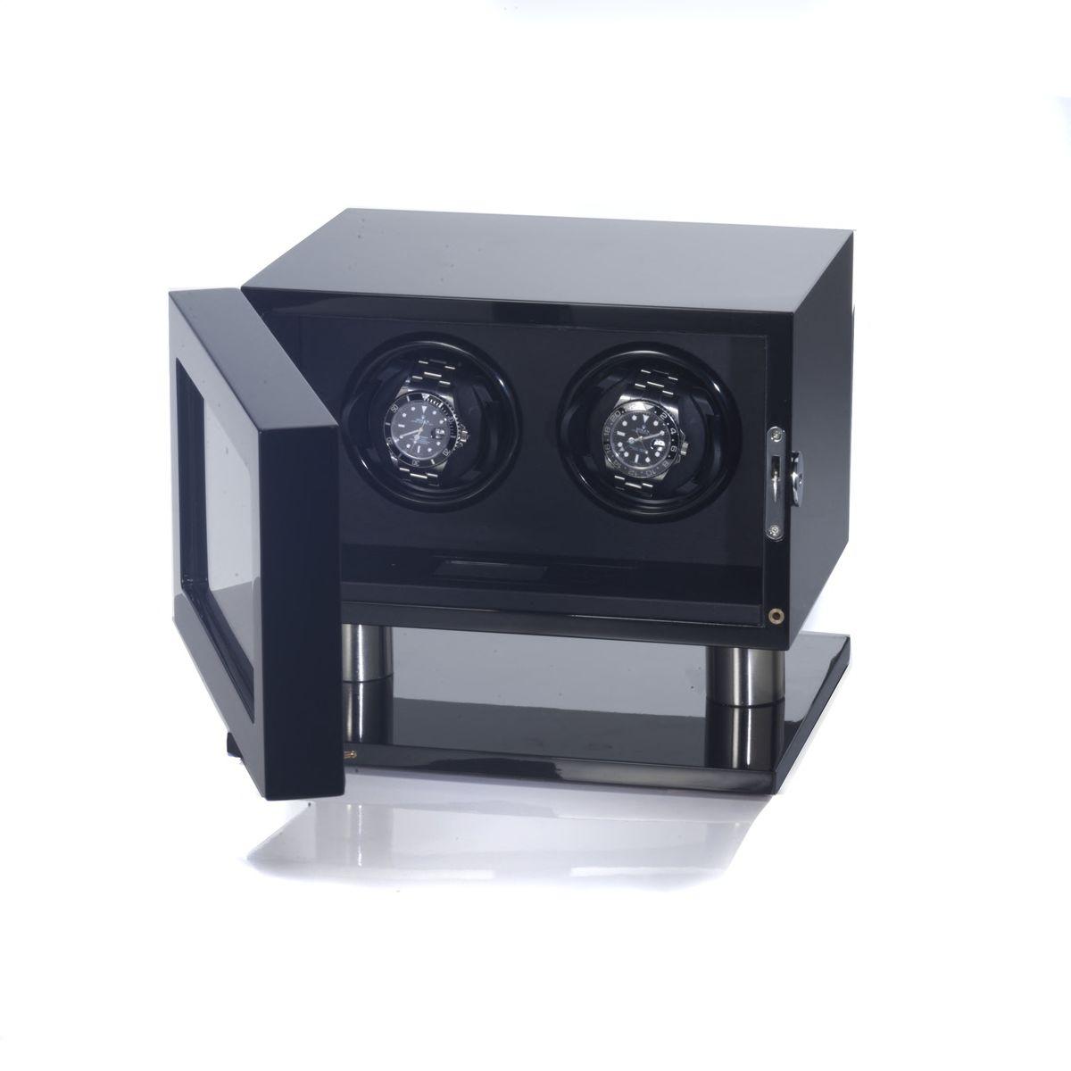 uhrenbeweger skyline f r 2 uhren klavierlack schwarz neu watchwinder new ebay. Black Bedroom Furniture Sets. Home Design Ideas