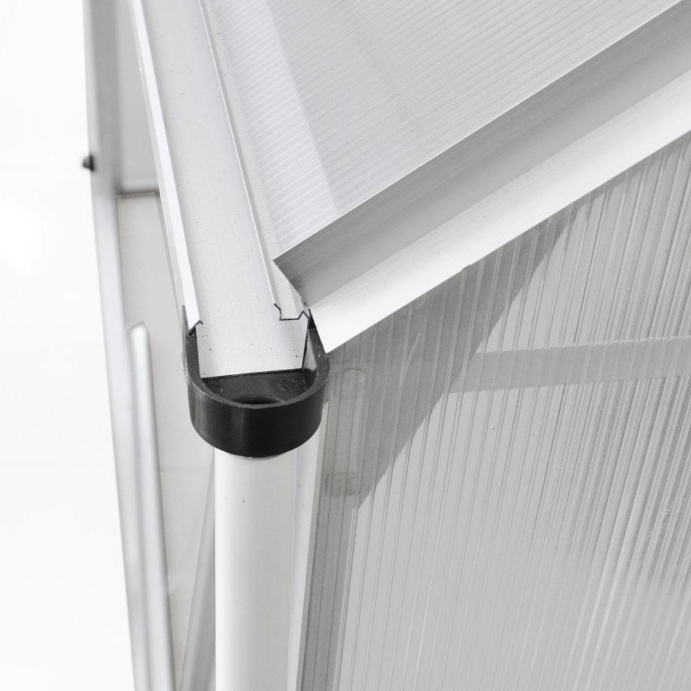 aluminium gew chshaus mit stahlfundament 11 7m treibhaus glashaus 6mm platten ebay. Black Bedroom Furniture Sets. Home Design Ideas