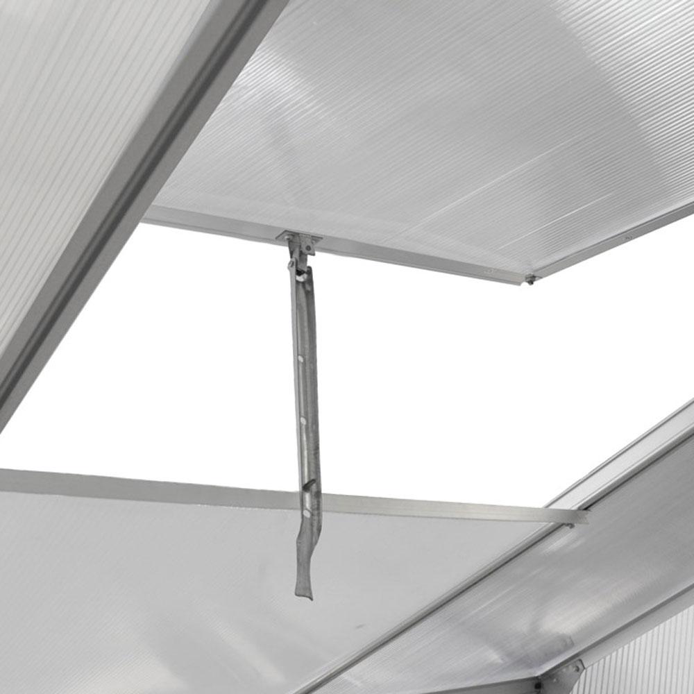 aluminium gew chshaus mit stahlfundament 16 07m treibhaus glashaus 6mm platten ebay. Black Bedroom Furniture Sets. Home Design Ideas