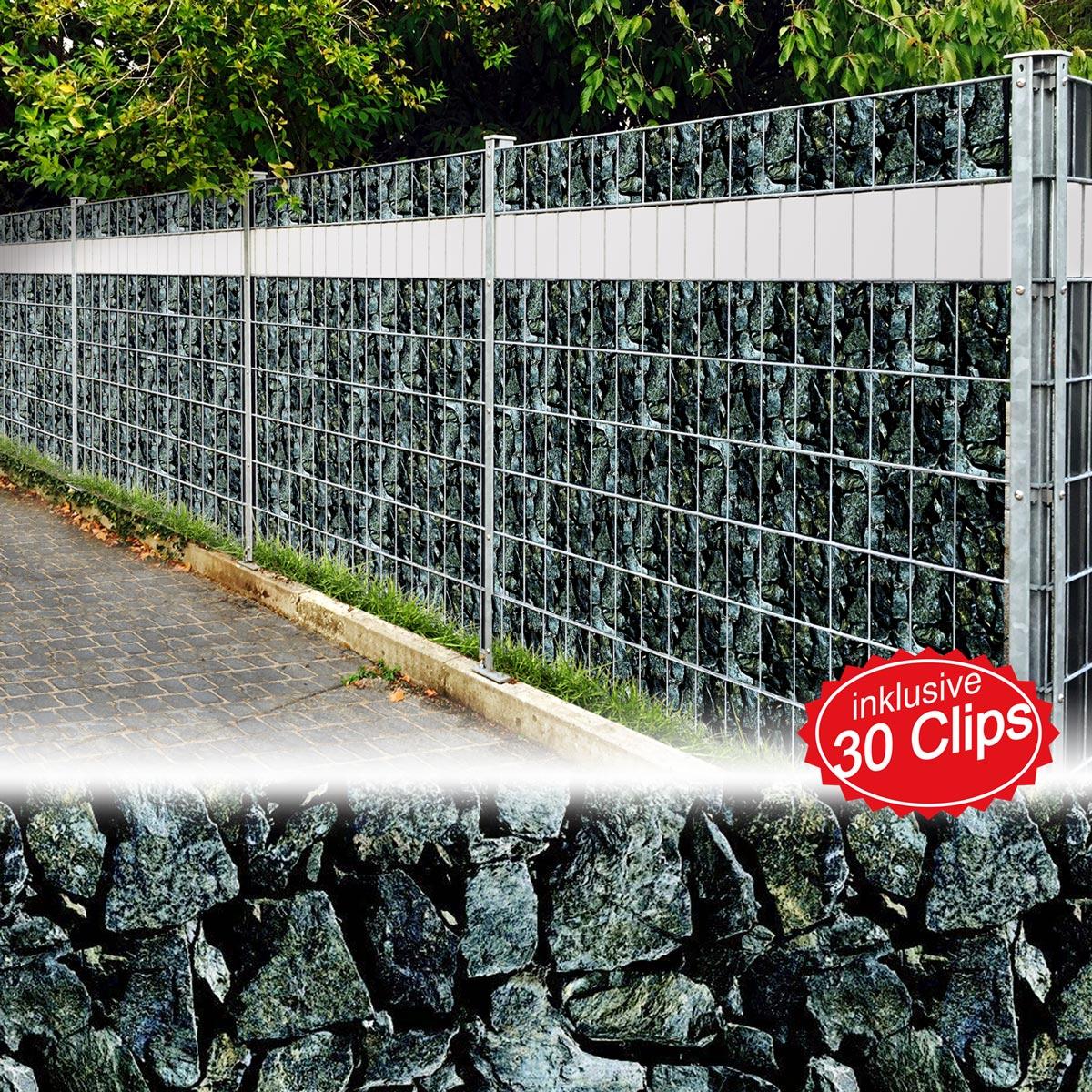 Pvc Sichtschutz Sichtschutzfolie Windschutz Doppelstabmatten Zaun Blickdicht
