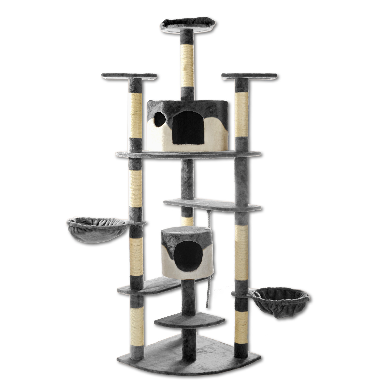 kratzbaum katzenkratzbaum kletterbaum f r katzen 204cm h he katzenbaum sisal ebay. Black Bedroom Furniture Sets. Home Design Ideas