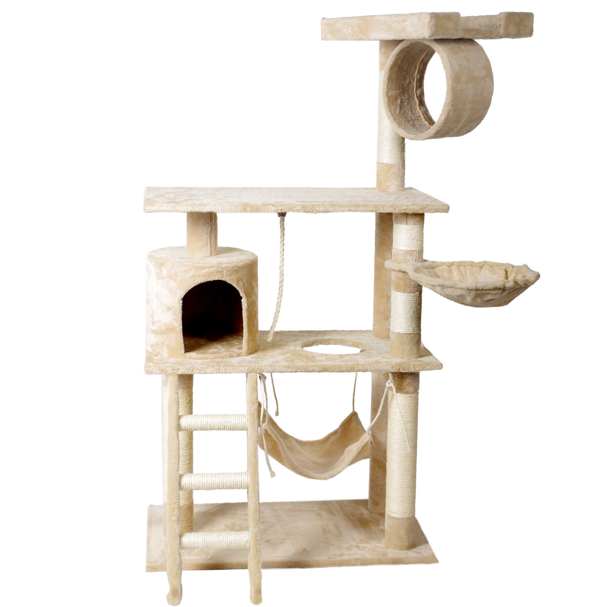 kratzbaum katzenkratzbaum kletterbaum f r katzen 138cm h he katzenbaum sisal ebay. Black Bedroom Furniture Sets. Home Design Ideas