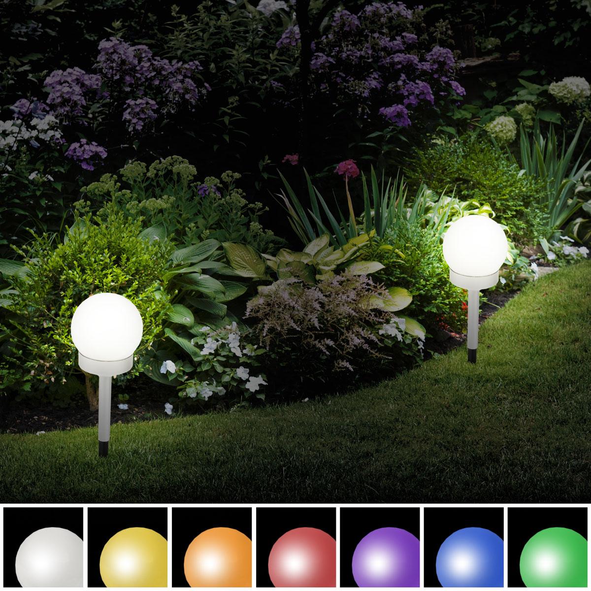 solar led leuchte garten beleuchtung solarleuchte kugelleuchte au en lampe akku ebay. Black Bedroom Furniture Sets. Home Design Ideas