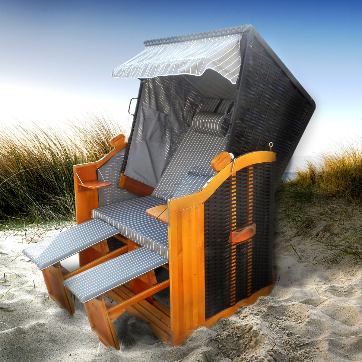 strandkorb premium volllieger ostsee gartenliege. Black Bedroom Furniture Sets. Home Design Ideas