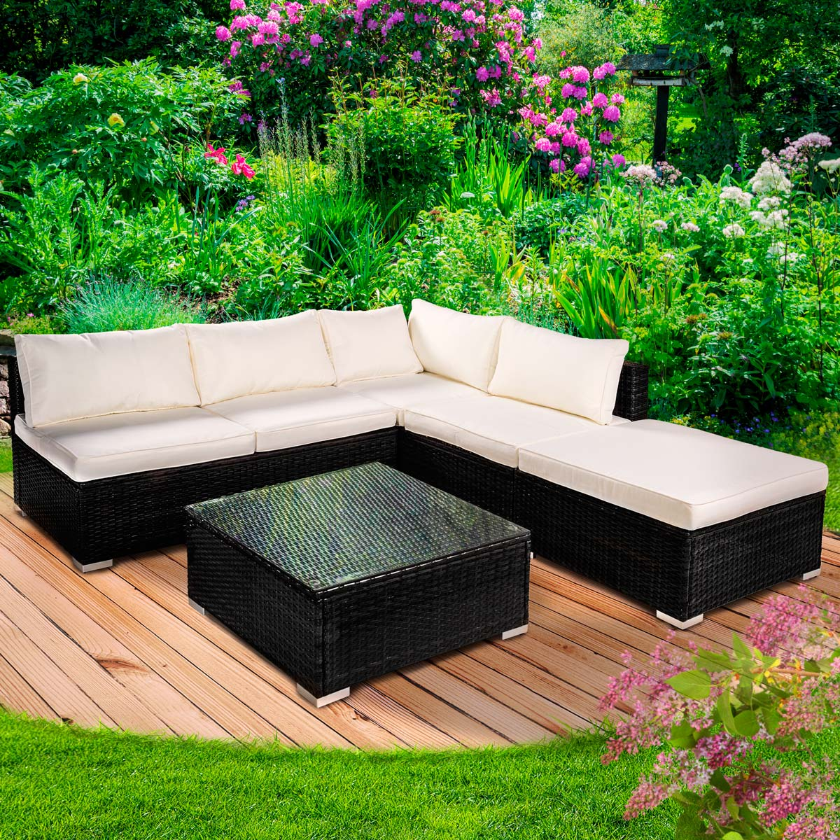 poly rattan gartenm bel lounge m bel sitzgarnitur gartengarnitur sitzgruppe sofa ebay. Black Bedroom Furniture Sets. Home Design Ideas