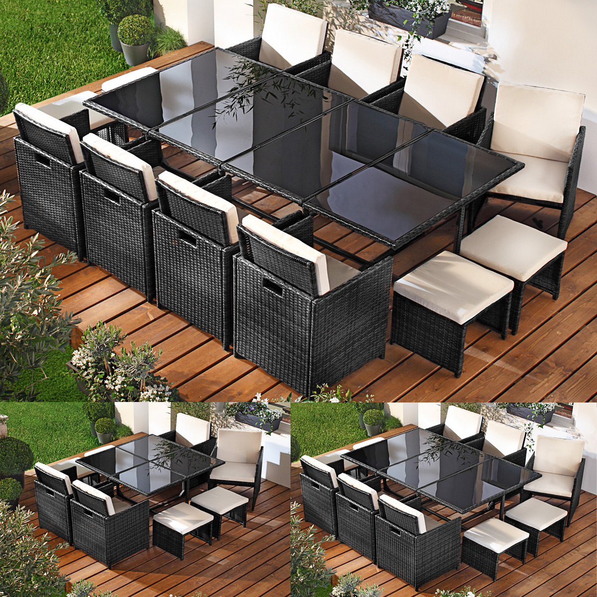 terrassenm bel rattan lounge. Black Bedroom Furniture Sets. Home Design Ideas