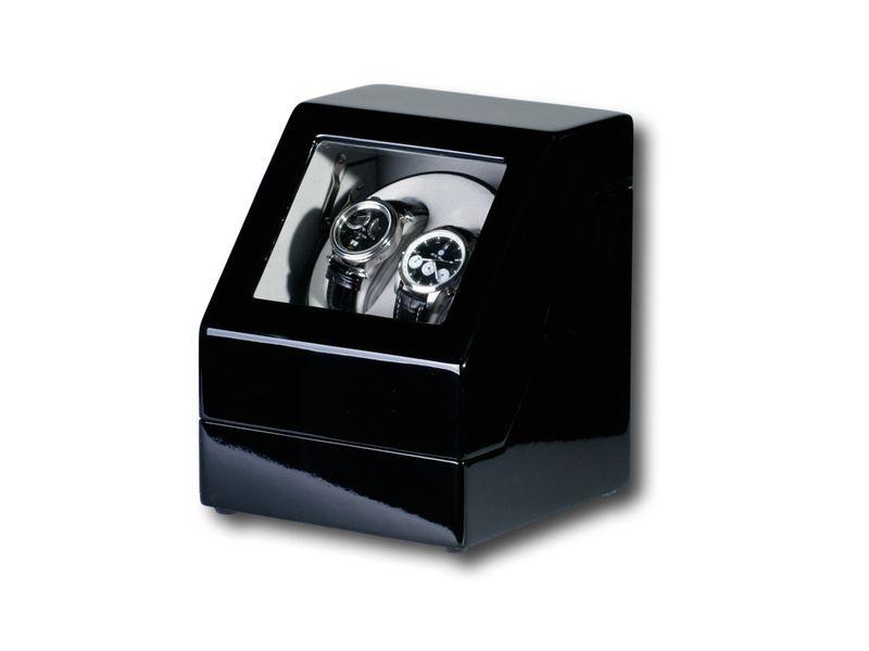 """Uhrenbeweger """"Penta"""" für 2 Uhren  4 Modelle Wurzelholz Klavierlack WatchWinder 2"""