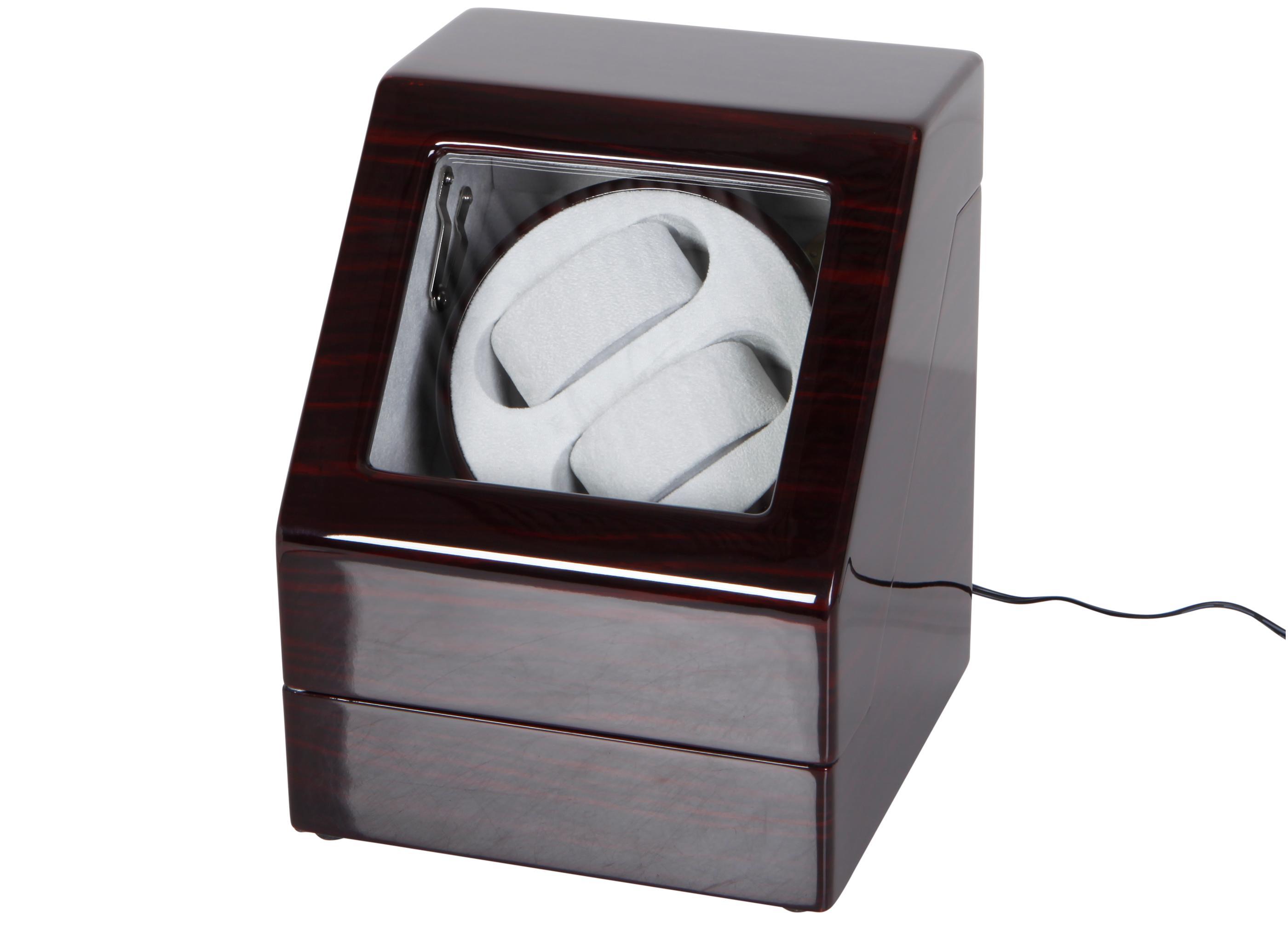 """Uhrenbeweger """"Penta"""" für 2 Uhren  4 Modelle Wurzelholz Klavierlack WatchWinder 7"""