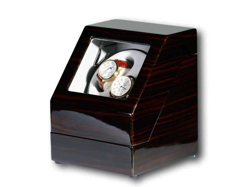 """Uhrenbeweger """"Penta"""" für 2 Uhren  4 Modelle Wurzelholz Klavierlack WatchWinder 6"""