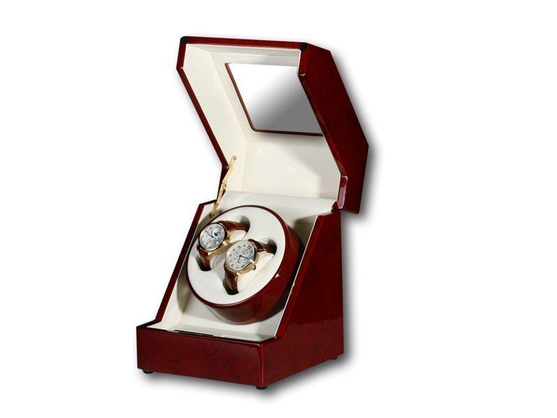 """Uhrenbeweger """"Penta"""" für 2 Uhren  4 Modelle Wurzelholz Klavierlack WatchWinder 5"""