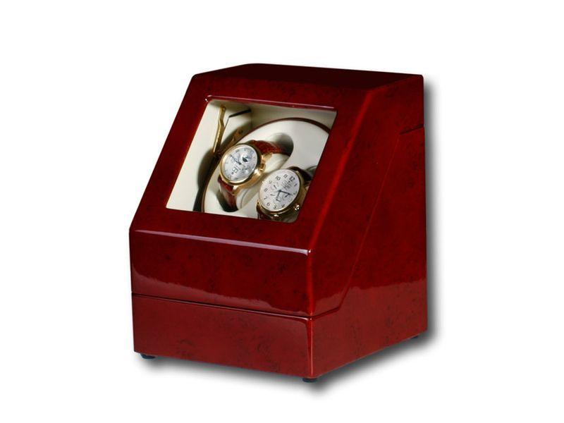 """Uhrenbeweger """"Penta"""" für 2 Uhren  4 Modelle Wurzelholz Klavierlack WatchWinder 4"""