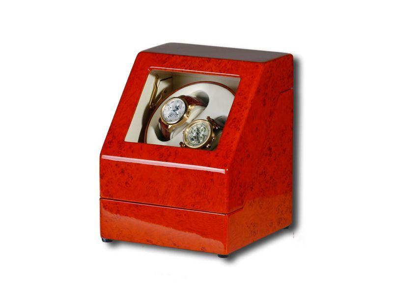 """Uhrenbeweger """"Penta"""" für 2 Uhren  4 Modelle Wurzelholz Klavierlack WatchWinder 8"""
