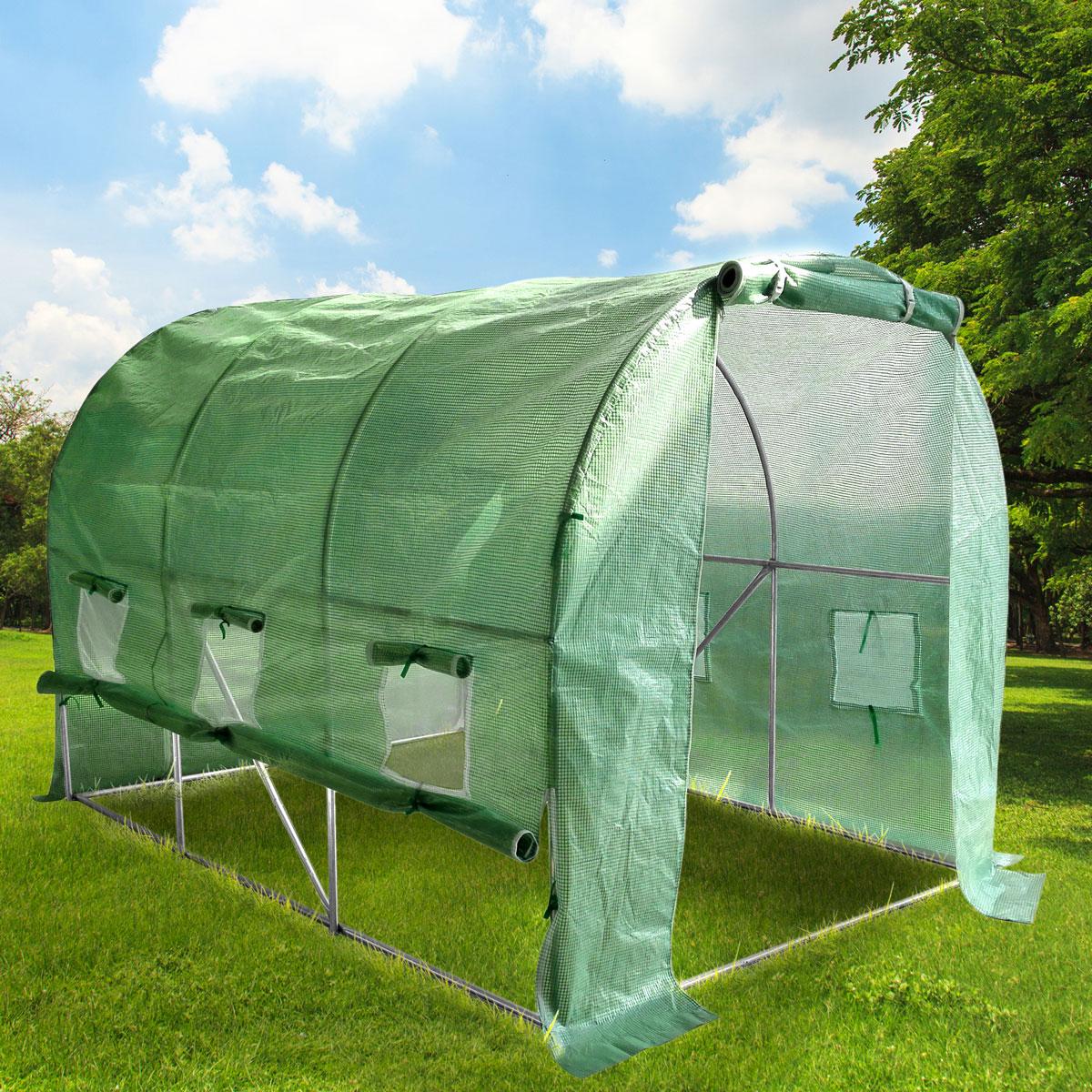 gew chshaus stahlfundament foliengew chshaus treibhaus tomatenhaus pflanzenhaus ebay. Black Bedroom Furniture Sets. Home Design Ideas