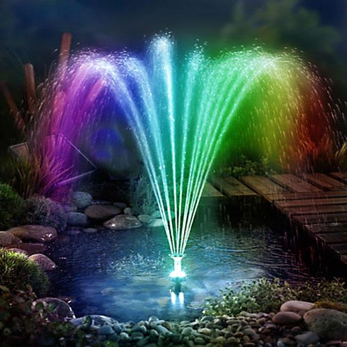 Brunnen Fontäne Gartenbrunnen Solarbrunnen Wasserspiel Lotus Pumpe Gartenteich