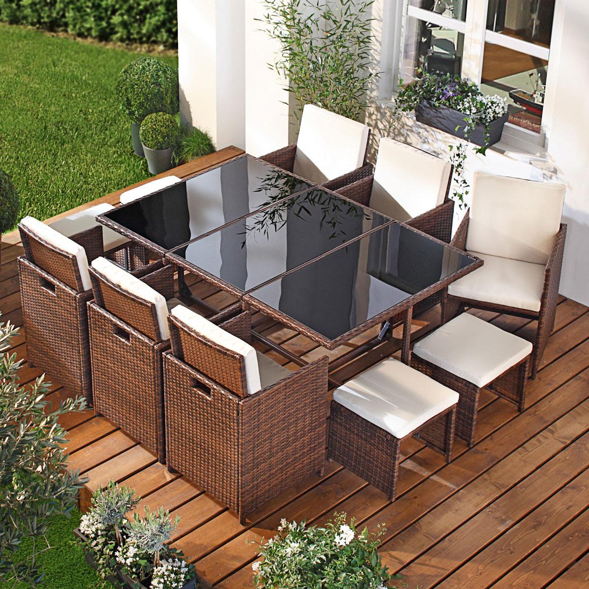 poly rattan sitzgruppe garnitur lounge gartenm bel sitzgarnitur gartengarnitur ebay. Black Bedroom Furniture Sets. Home Design Ideas