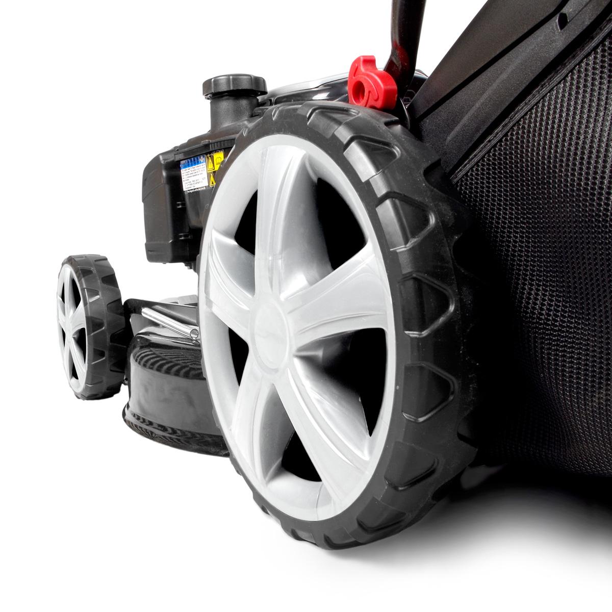 brast benzin rasenm her 4 4kw 6ps elektrostart selbstantrieb gt markengetriebe ebay. Black Bedroom Furniture Sets. Home Design Ideas
