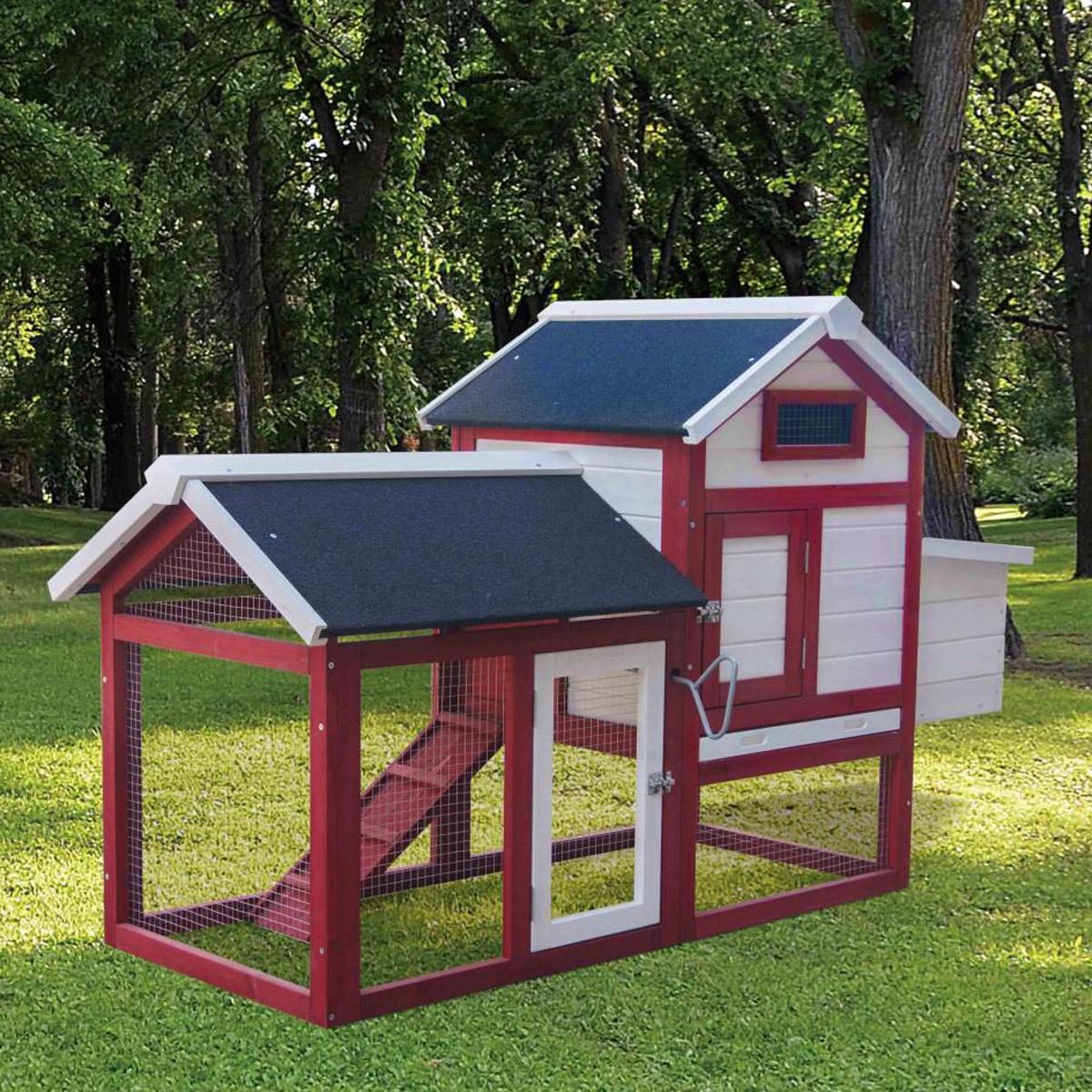 h hnerstall gefl gelstall hasenstall kaninchenstall kaninchenk fig h hnerhaus ebay. Black Bedroom Furniture Sets. Home Design Ideas
