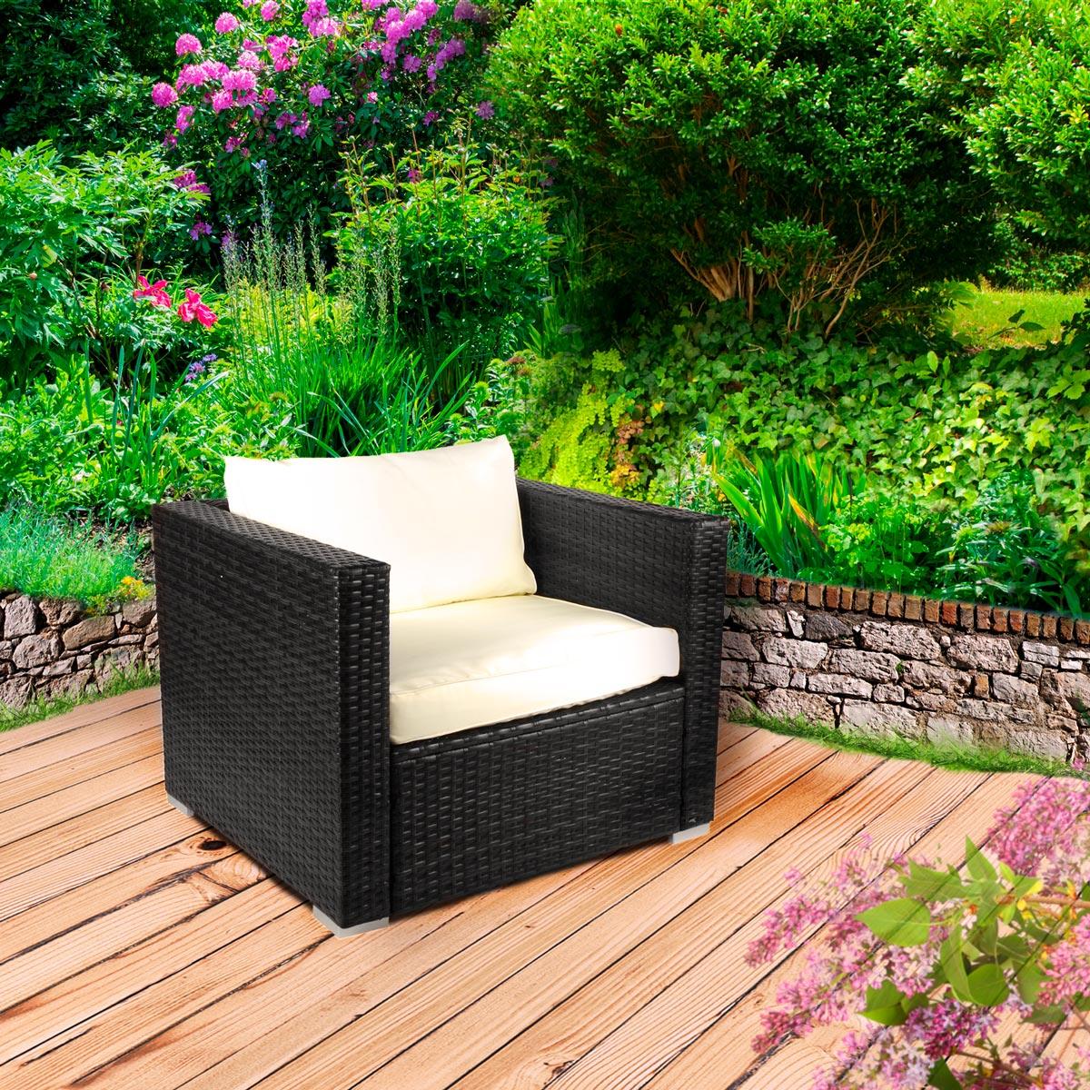 poly rattan gartenm bel lounge m bel sitzgarnitur. Black Bedroom Furniture Sets. Home Design Ideas