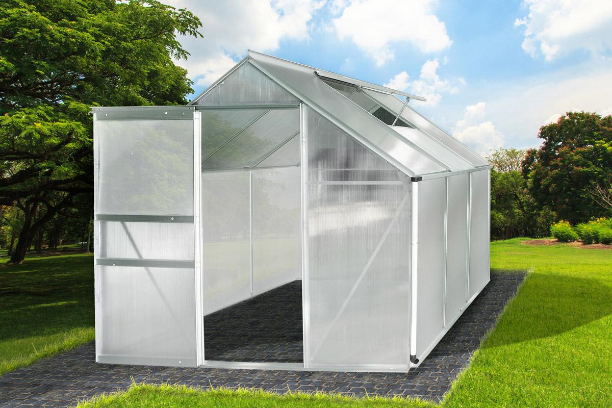 Aluminium Gewachshaus Mit Stahlfundament 5 85m Alu Gartenhaus