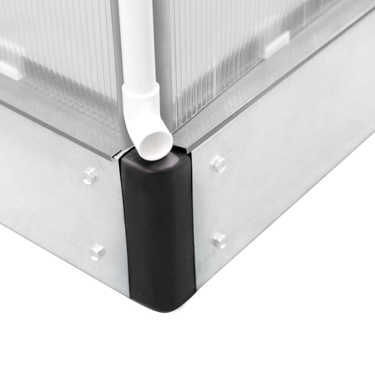aluminium gew chshaus mit stahlfundament 17 2 m treibhaus glashaus 6mm platten ebay. Black Bedroom Furniture Sets. Home Design Ideas