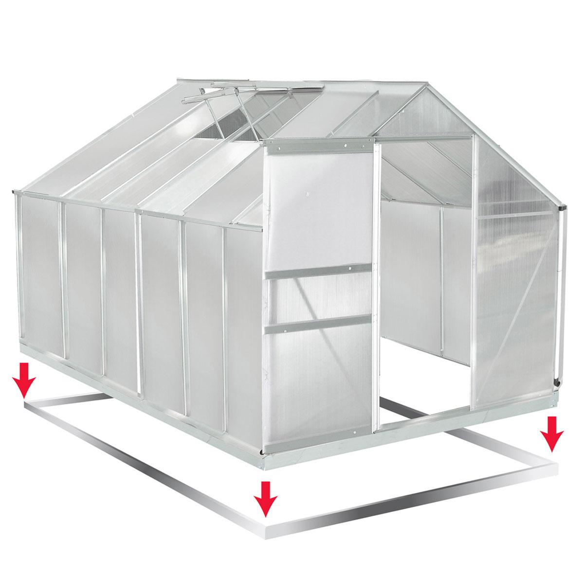 aluminium gew chshaus mit stahlfundament 11 7m treibhaus glashaus 6mm platten 4260491659422 ebay. Black Bedroom Furniture Sets. Home Design Ideas