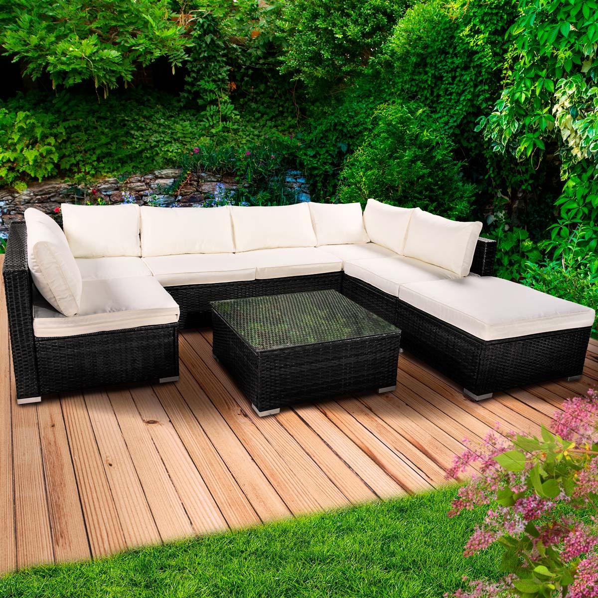 poly rattan gartenm bel lounge m bel sitzgarnitur gartengarnitur sitzgruppe sofa ebay. Black Bedroom Furniture Sets. Home Design Ideas