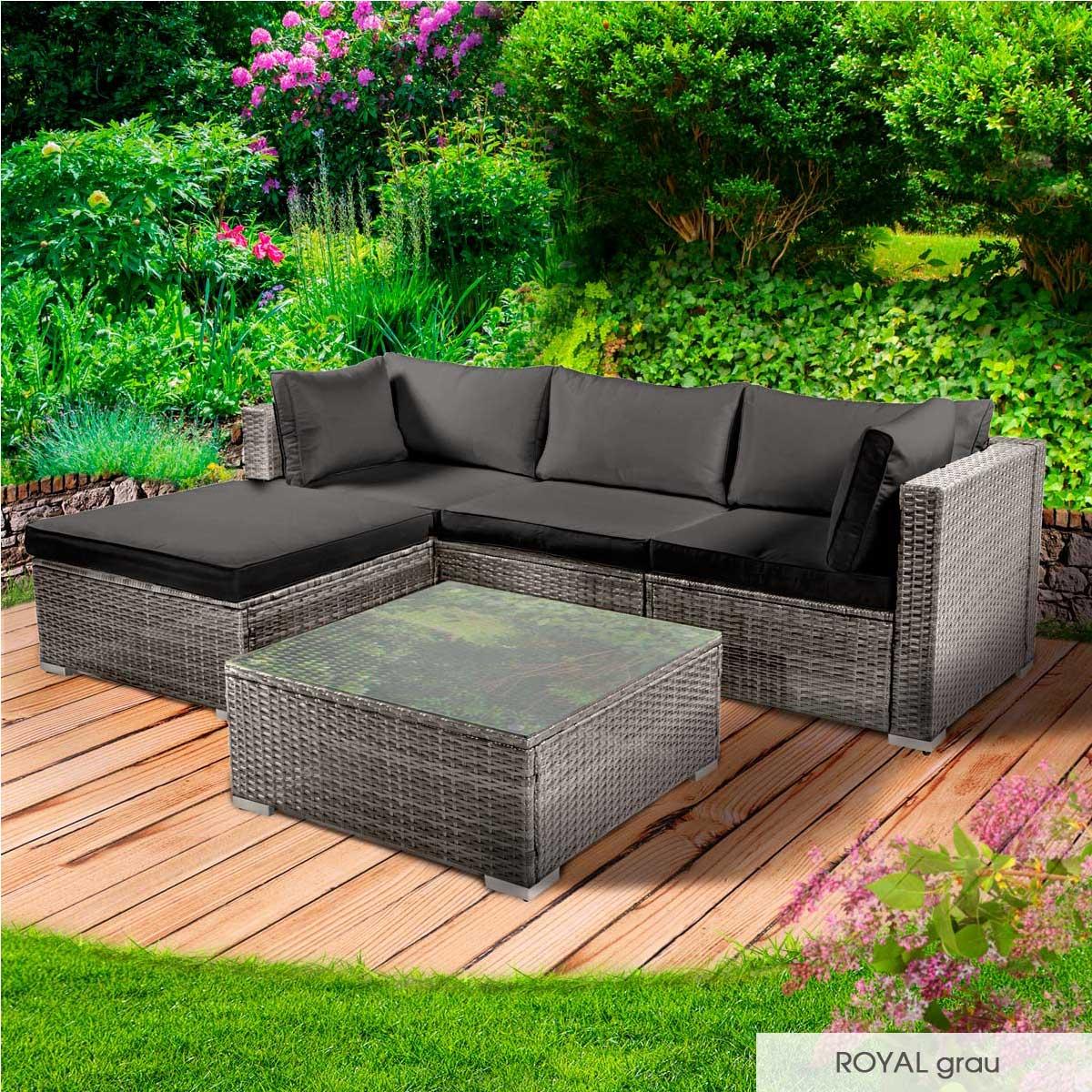 Gartenmoebel-Poly-Rattan-Lounge-Moebel-Sitzgarnitur-Gartengarnitur-Sitzgruppe-Sofa Indexbild 15