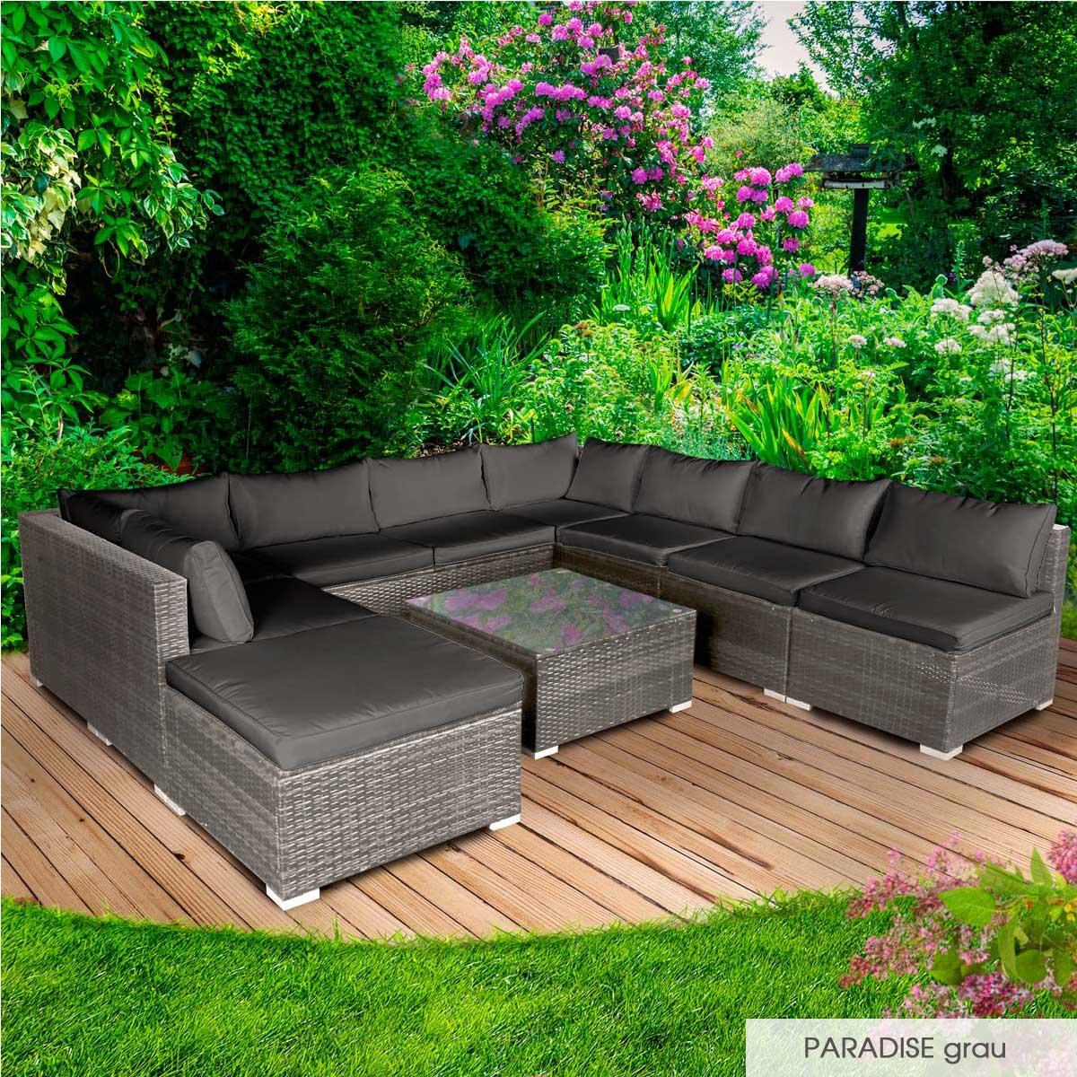 Gartenmoebel-Poly-Rattan-Lounge-Moebel-Sitzgarnitur-Gartengarnitur-Sitzgruppe-Sofa Indexbild 39