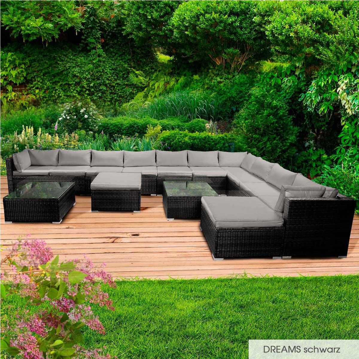 Gartenmoebel-Poly-Rattan-Lounge-Moebel-Sitzgarnitur-Gartengarnitur-Sitzgruppe-Sofa Indexbild 69