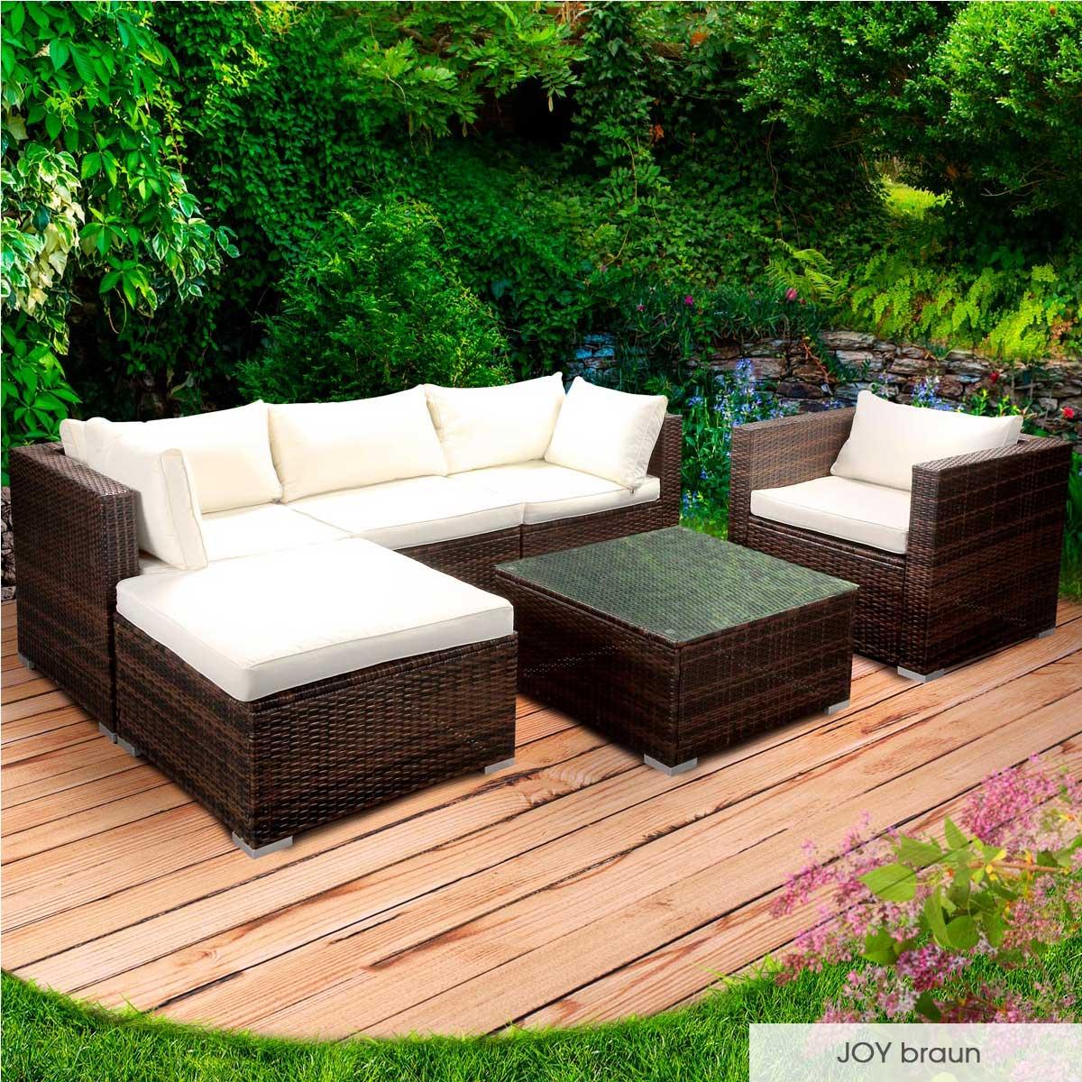 Gartenmoebel-Poly-Rattan-Lounge-Moebel-Sitzgarnitur-Gartengarnitur-Sitzgruppe-Sofa Indexbild 22