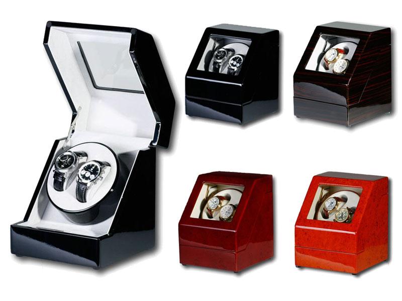 """Uhrenbeweger """"Penta"""" für 2 Uhren  4 Modelle Wurzelholz Klavierlack WatchWinder"""